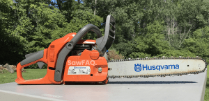 gasoline powered chainsaw