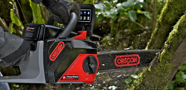 oregon battery powered chainsaw